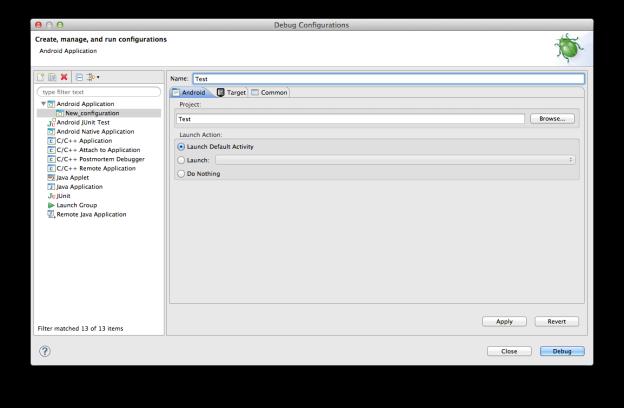 Debug Configurations 2