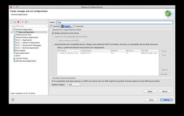 Debug Configurations 3